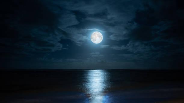 blue moon over poste lafayette à l'île maurice. - pleine lune photos et images de collection