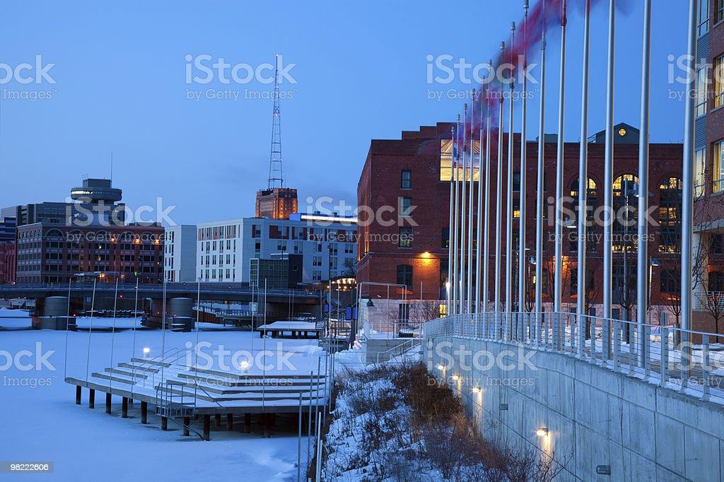 Blu mattino a Milwaukee foto stock royalty-free