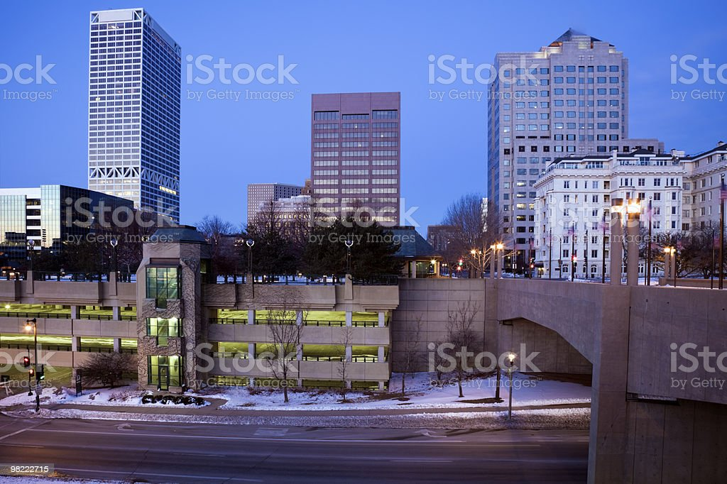 Blue morning in Milwaukee royalty-free stock photo