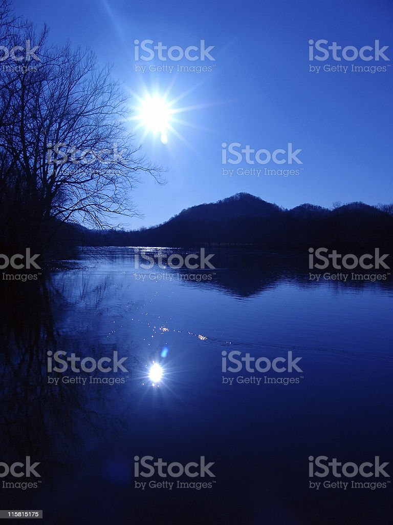 Blue Morning royalty-free stock photo