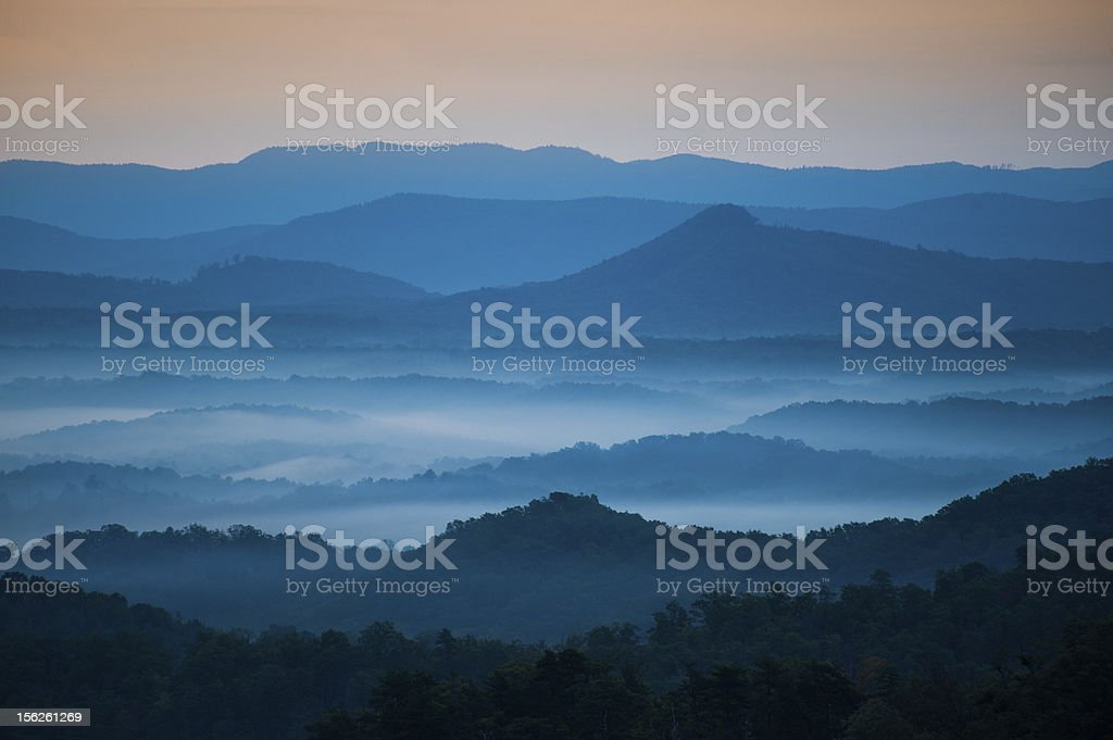Blue Morning stock photo