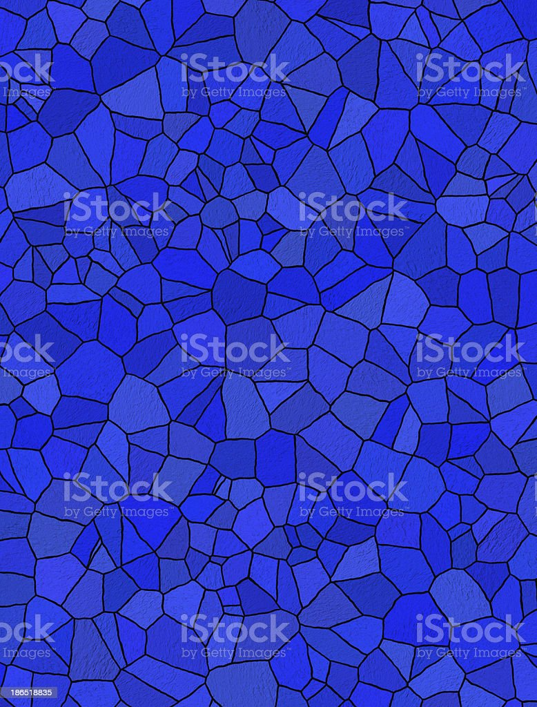 blue mosaic for background royalty-free stock photo