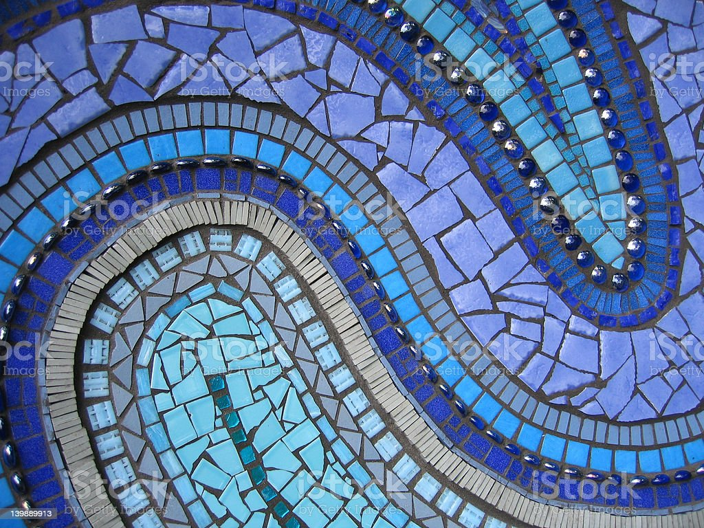 Blue Mosaic stock photo