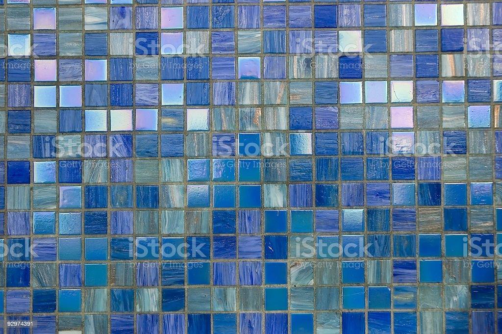 Blue mosaic texture royalty-free stock photo