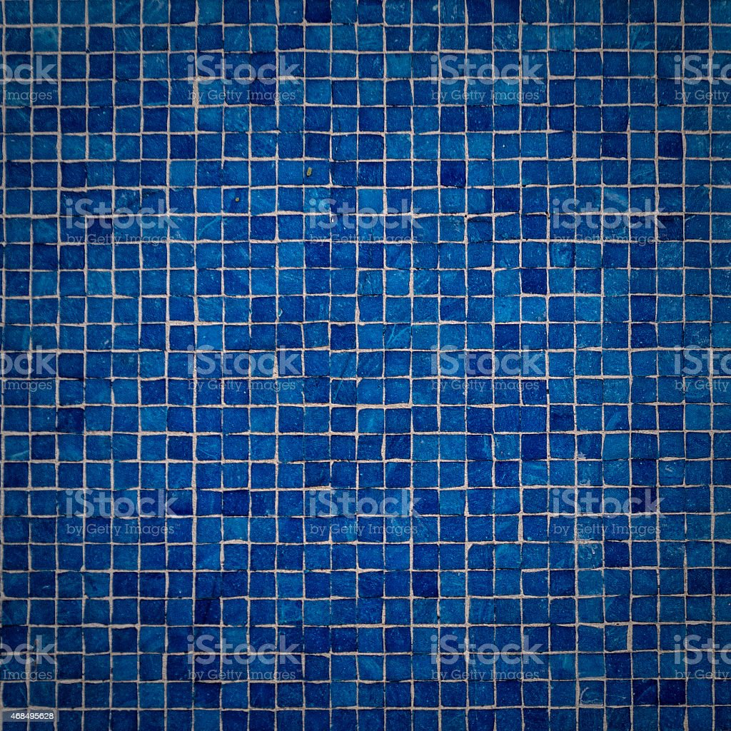 Blue Mosaic Tile Wall Seamless Background And Texture stock photo ...