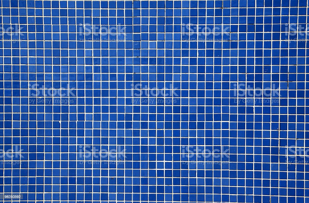 blue mosaic tiles royalty-free stock photo