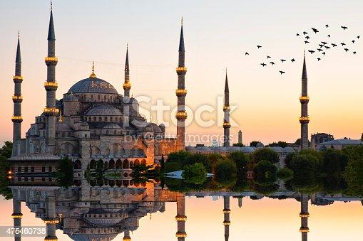 istock Blue mosque and hagia sophia 475460738