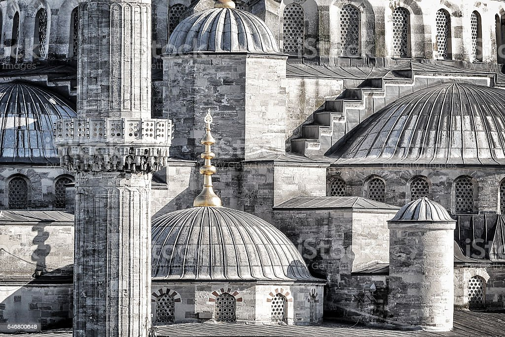 Blue Mosque background stock photo