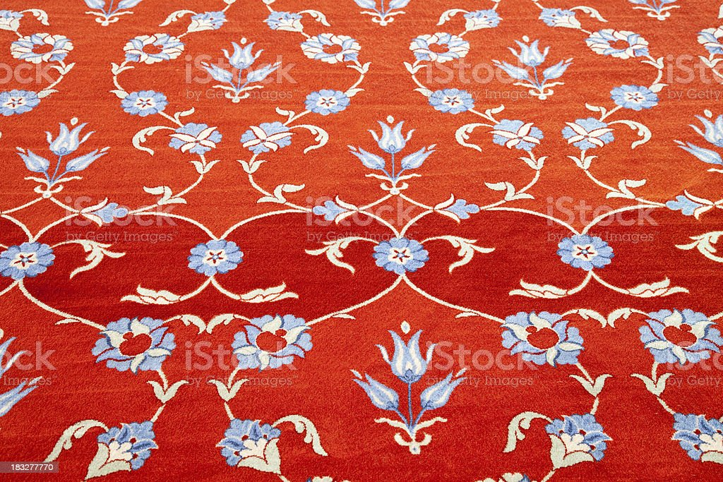 Blue Mosque carpet royalty-free stock photo