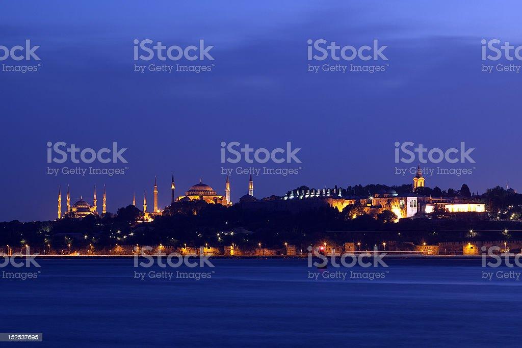 Blaue Moschee, die Hagia Sophia und das Topkapi-Palast – Foto