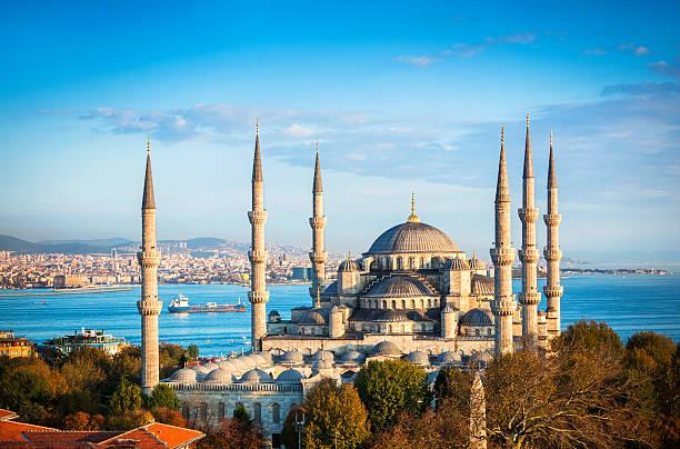 голубая мечеть в стамбуле - стамбул стоковые фото и изображения