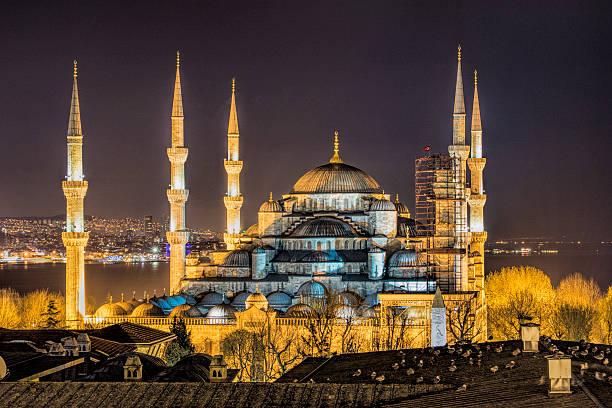 moschea blu di istanbul - sharia foto e immagini stock
