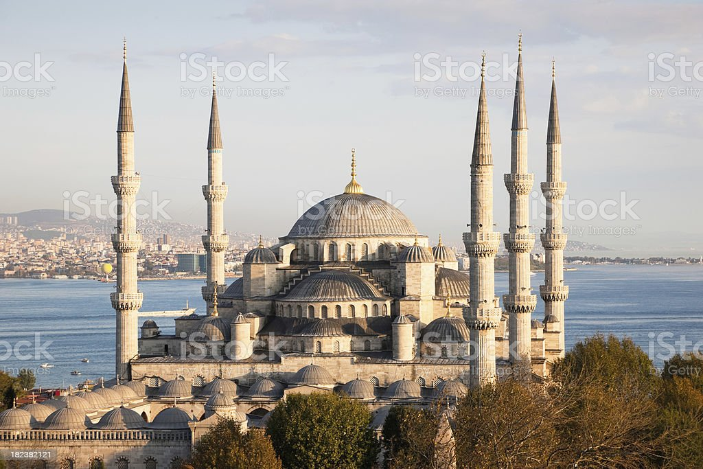 Blue Mosque in Istanbul Turkey royalty-free stock photo
