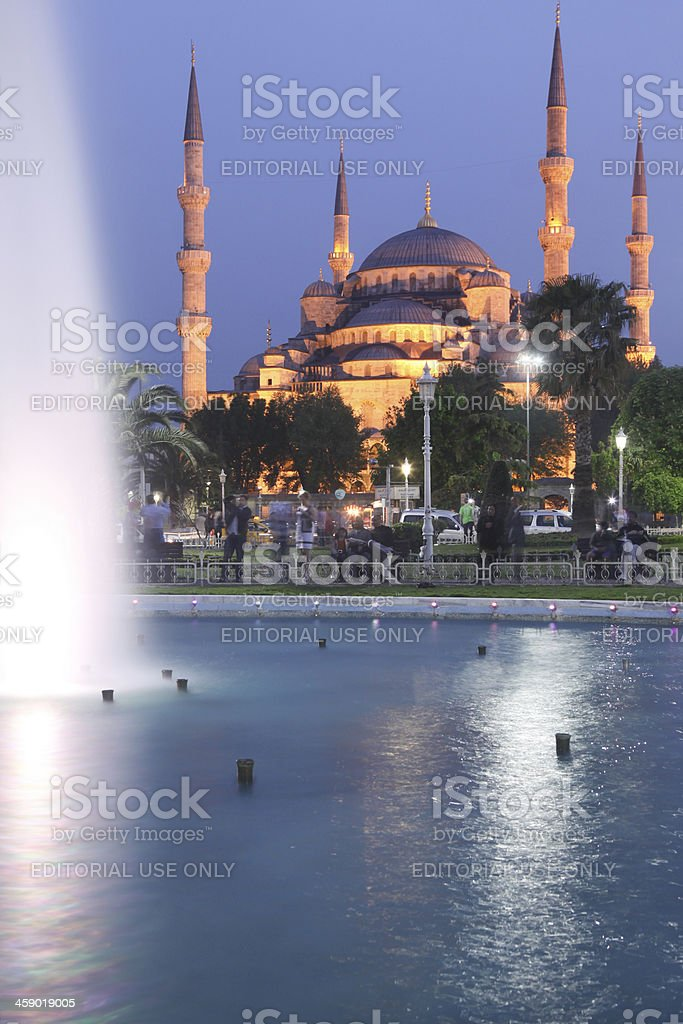 Blue Mosque in Istanbul, Turkey royalty-free stock photo