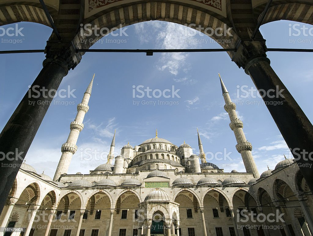 Blue Mosque in Istanbul XL royalty-free stock photo