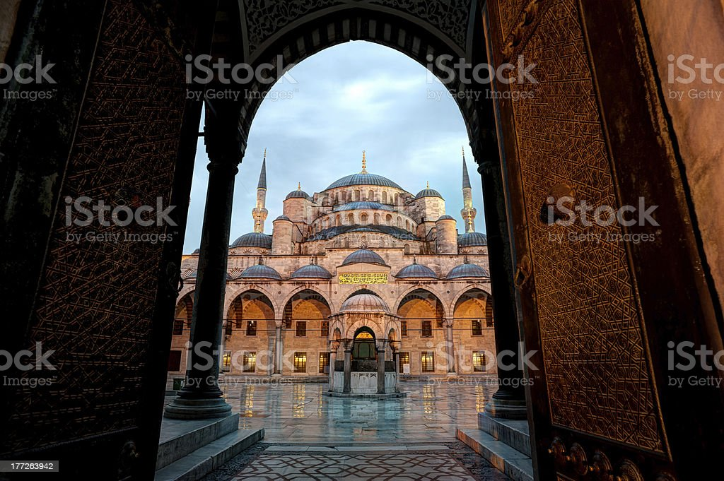 Blue Mosque in Itanbul at sunrise royalty-free stock photo