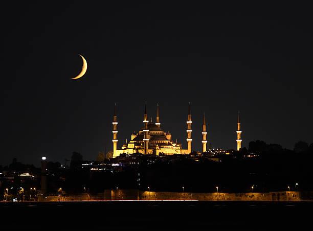 mezquita azul en el ramadán - ramadán fotografías e imágenes de stock