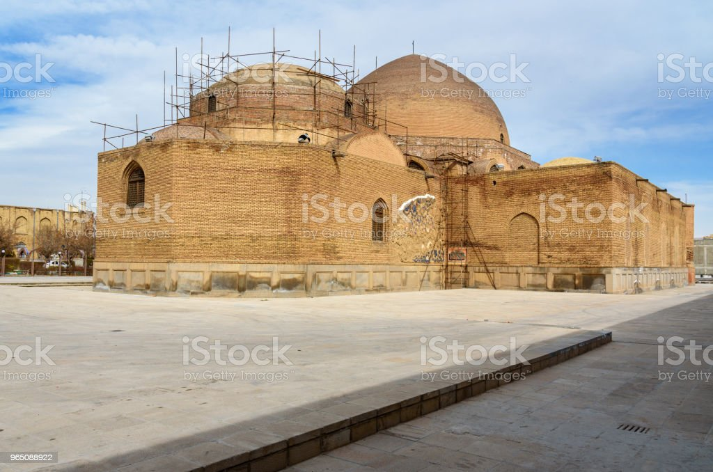 Blue Mosque in Tabriz. East Azerbaijan province. Iran royalty-free stock photo