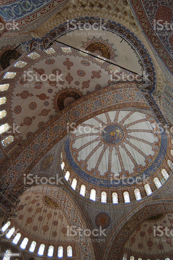 Blue Mosque Interior royalty-free stock photo