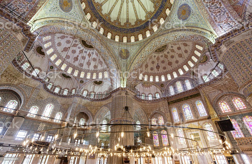 Blue Mosque Interior stock photo