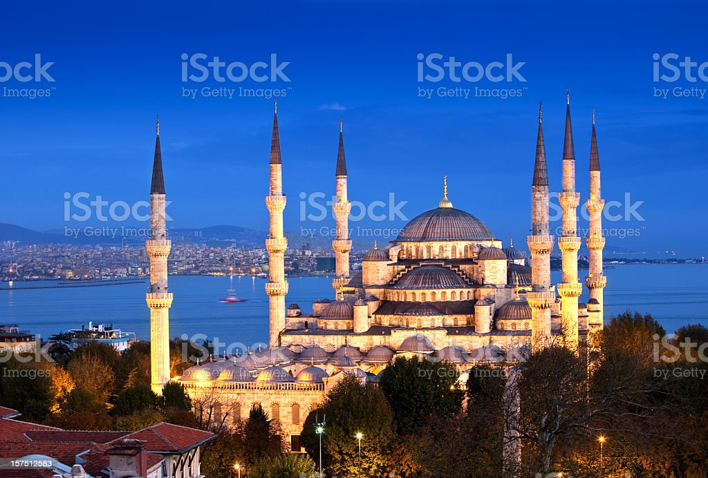 Blue mosque Istanbul royalty-free stock photo