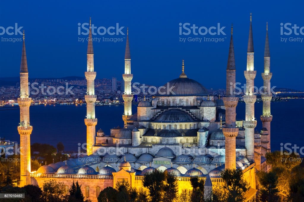 Blue Mosque, Istanbul, Turkey. stock photo