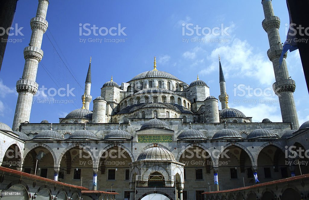Blue mosque or Sultanahmet in Istanbul Turkey royalty-free stock photo