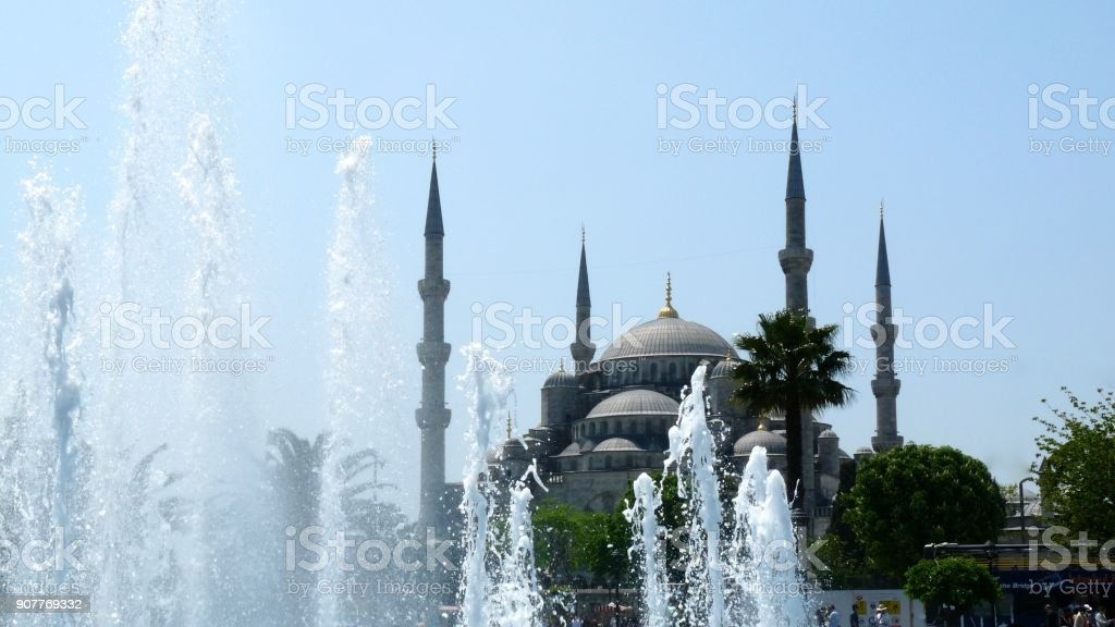 Blue Mosque, outside view stock photo