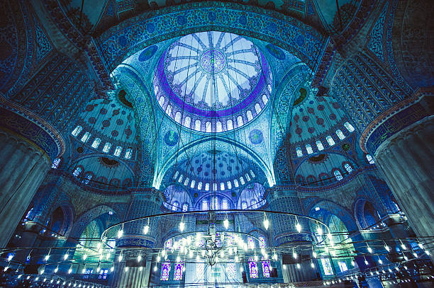 blue mosque - eminonu district stockfoto's en -beelden