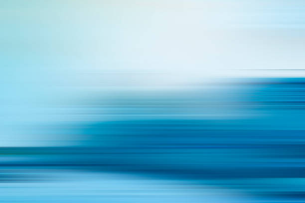 blue motion blur abstract background - striato foto e immagini stock