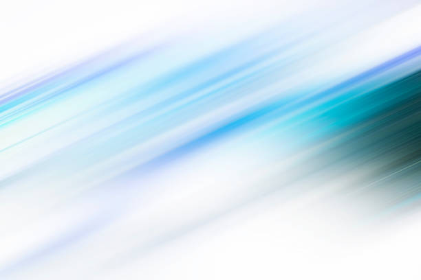 Blue motion blur abstract background Blue motion blur abstract background, digitally generated image of blue light and stripes moving fast over black background zoom effect stock pictures, royalty-free photos & images