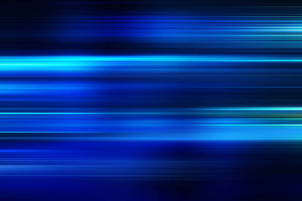 blue motion blur abstract background - velocidade imagens e fotografias de stock