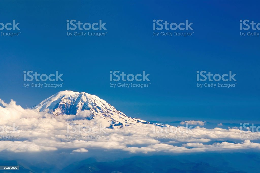 Blue Mountain above the clouds 2 royalty-free stock photo
