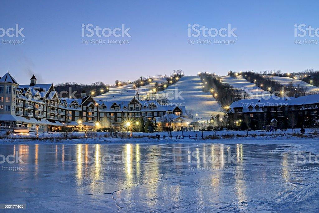 Blue Mountain Ski Resorts stock photo