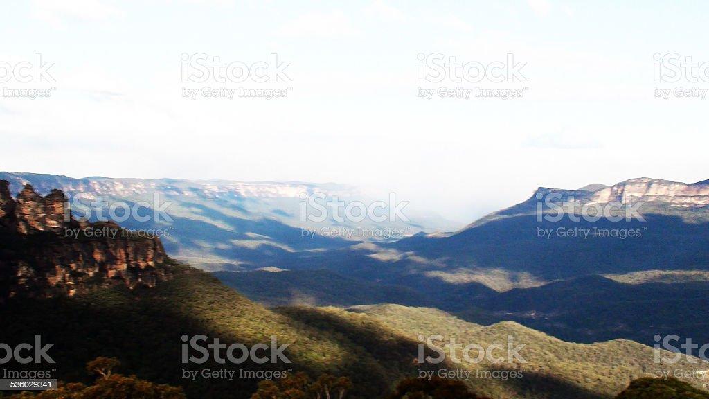 Blue Mountain, Sydney, Australia stock photo