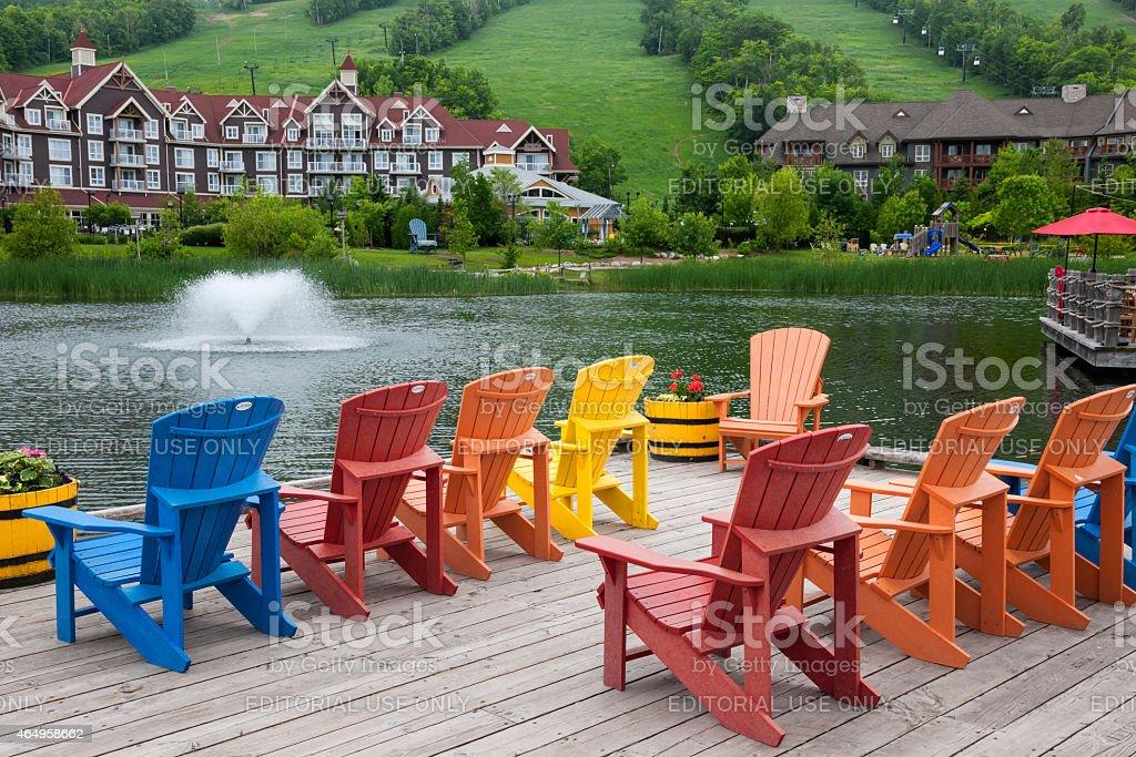 Blue Mountain Village, Collingwood, Canada stock photo