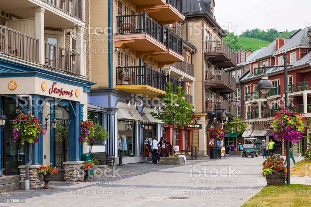 Blue Mountain Village in summer, Collingwood, Canada stock photo