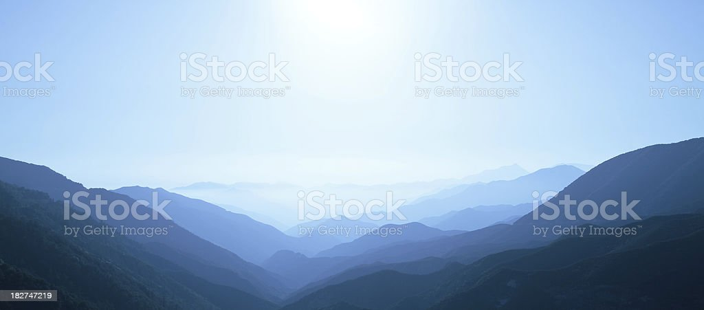 blue mountains and sky royalty-free stock photo