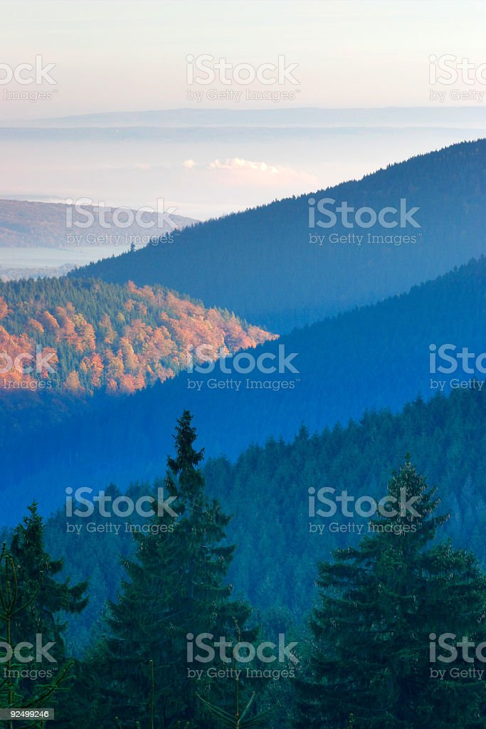 Blue Mountains at Dawn royalty-free stock photo
