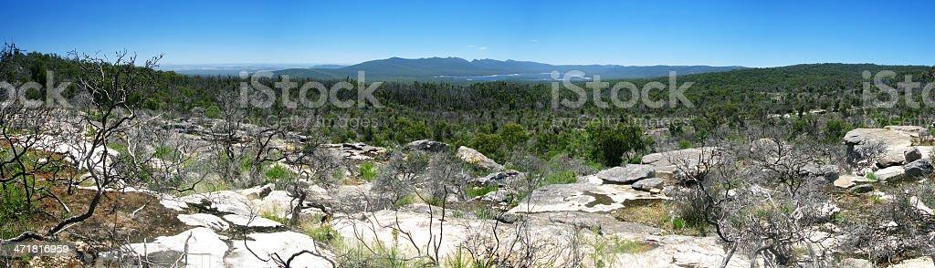 blue mountains australia stock photo