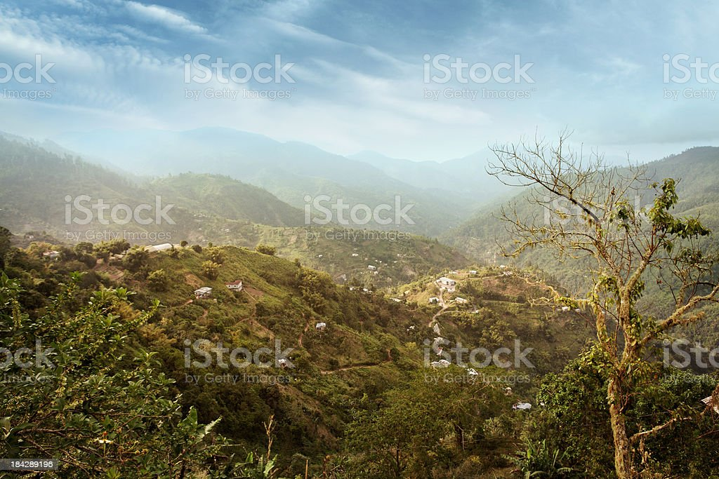 Blue Mountains in Jamaica stock photo