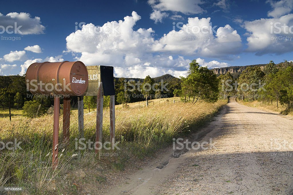 Blue Mountains Letter Boxes royalty-free stock photo