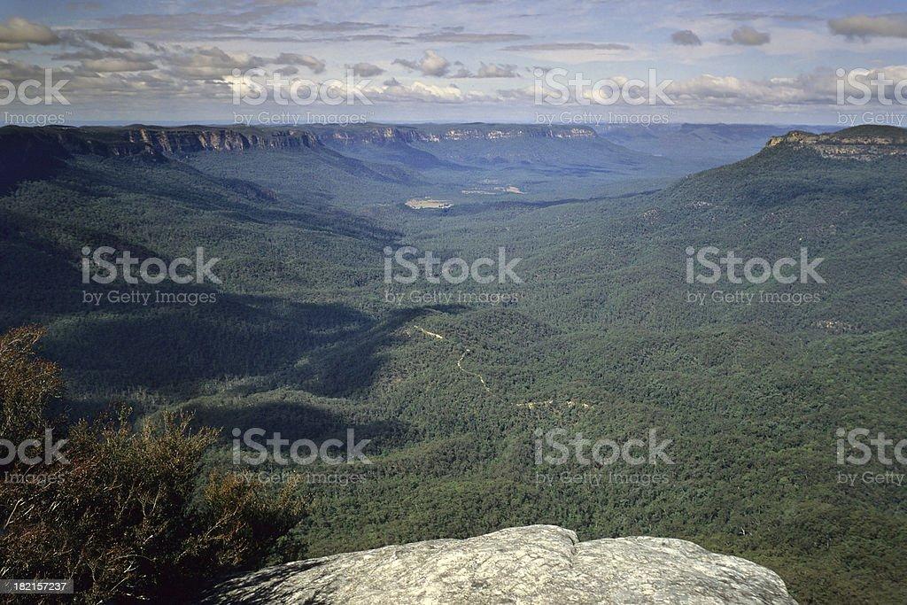 Blue Mountains Lookout, Australia stock photo
