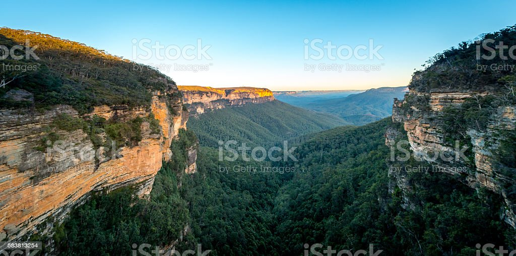 Blue Mountains national park stock photo