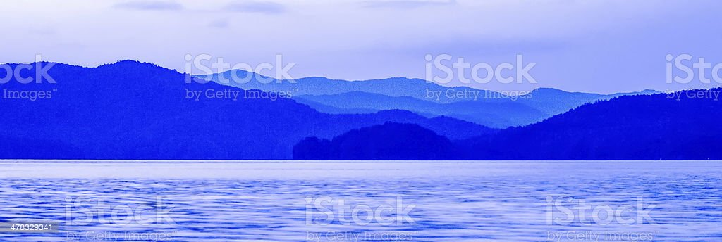 blue mountains silhouettes royalty-free stock photo