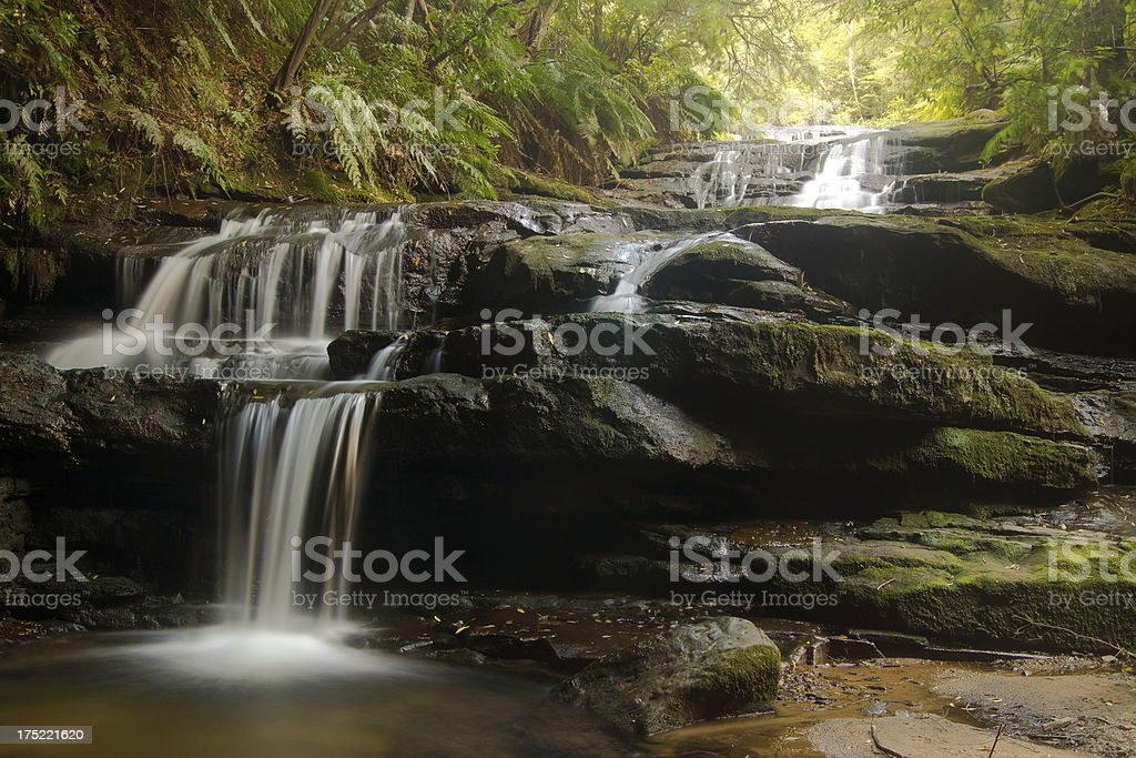 Blue Mountains Waterfall - Leura Cascades stock photo
