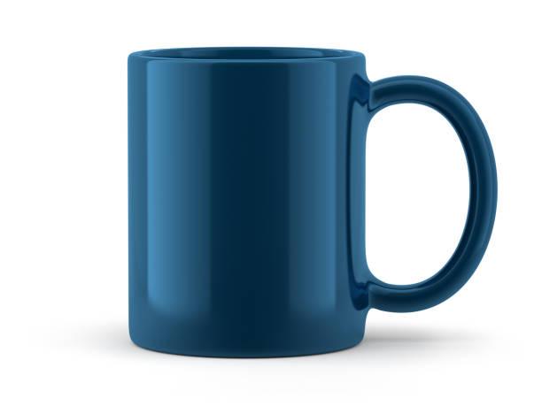 taza azul aislada - taza fotografías e imágenes de stock
