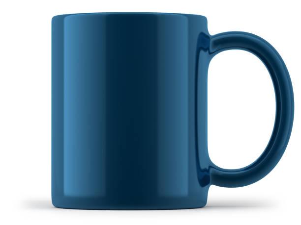 Blue Mug Isolated stock photo