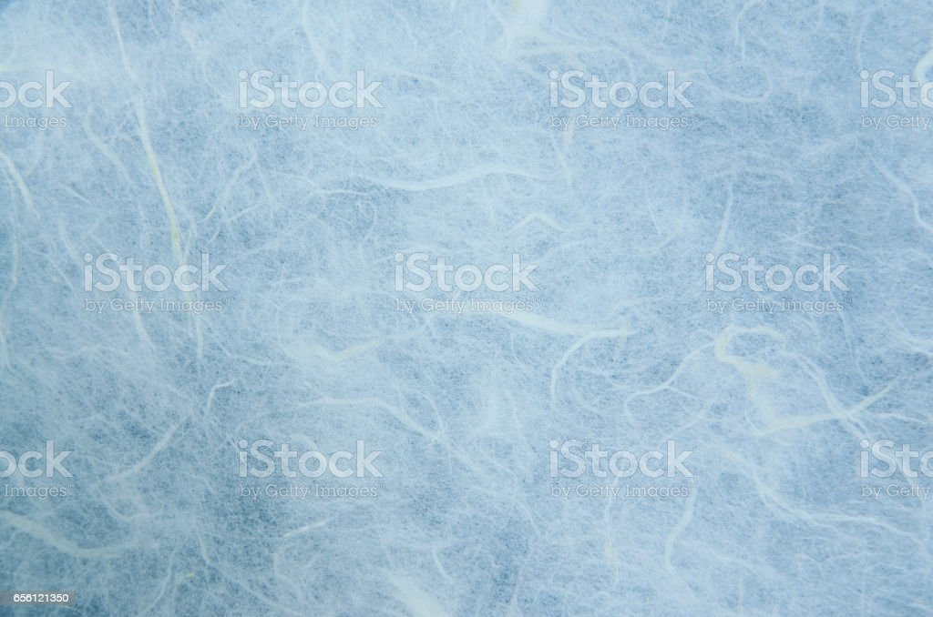 Blue mulberry paper texture.Handmade mulberry paper texture.Mulberry paper background.Rice paper texture. stock photo