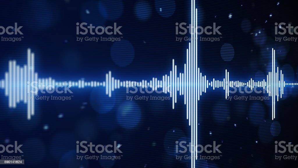 blue music equalizer background stock photo